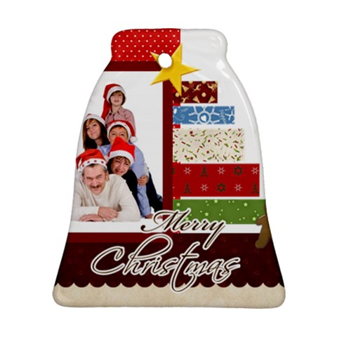 Merry Christmas By Betty   Ornament (bell)   I5kjn5wpzg1w   Www Artscow Com Front