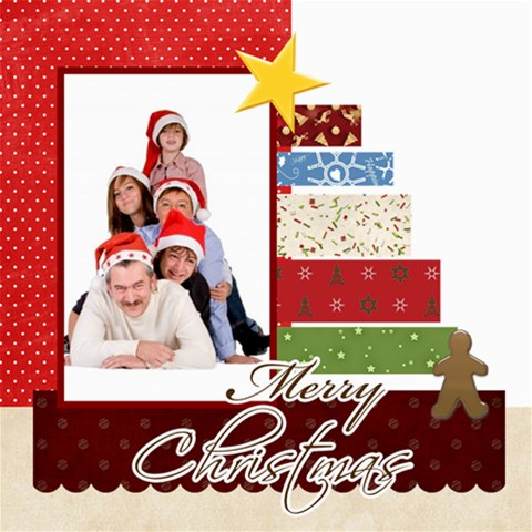 Merry Christmas By Betty   Scrapbook Page 8  X 8    1v6kg8p22m2a   Www Artscow Com 8 x8 Scrapbook Page - 1
