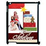 merry christmas - Apple iPad 2 Case (Black)