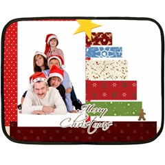 Merry Christmas By Betty   Double Sided Fleece Blanket (mini)   Ms4555s9iaqw   Www Artscow Com 35 x27 Blanket Front