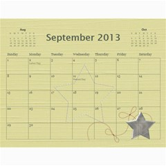 Wendy By Wendy   Wall Calendar 11  X 8 5  (12 Months)   Oh84s4bz23y9   Www Artscow Com Sep 2013