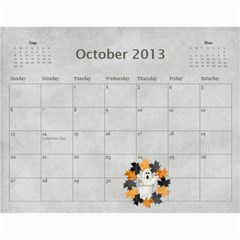 Wendy By Wendy   Wall Calendar 11  X 8 5  (12 Months)   Oh84s4bz23y9   Www Artscow Com Oct 2013