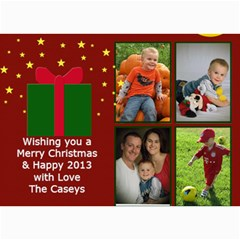 Xmas Card By Josipa   5  X 7  Photo Cards   1wtcok662aks   Www Artscow Com 7 x5 Photo Card - 25