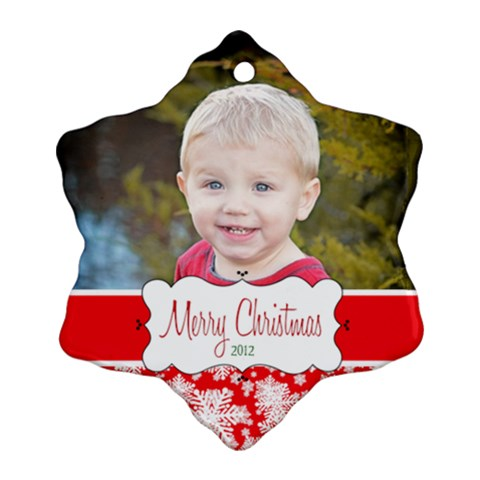 Atticus  Ornament 2012 By Luvbugerin   Ornament (snowflake)   Vdvwpxil9mma   Www Artscow Com Front