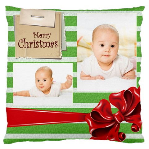 Merry Christmas, Xmas, Happy New Year  By Wood Johnson   Large Cushion Case (one Side)   Uiszrw26m1it   Www Artscow Com Front
