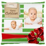 merry christmas, xmas, happy new year  - Large Cushion Case (One Side)