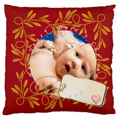 Merry Christmas, Xmas, Happy New Year  By Wood Johnson   Large Cushion Case (two Sides)   Jxovkcf43zg5   Www Artscow Com Back