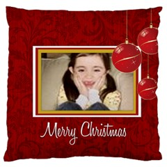 Merry Christmas, Xmas, Happy New Year  By Wood Johnson   Large Cushion Case (two Sides)   Sscb9lzymugw   Www Artscow Com Front