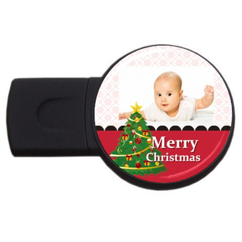 Merry Christmas, Xmas, Happy New Year  By Wood Johnson   Usb Flash Drive Round (1 Gb)   8dfcwj8896ck   Www Artscow Com Front