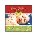 merry christmas, xmas, happy new year  - Acrylic Jigsaw Puzzle (3  x 3 )