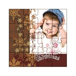 merry christmas, xmas, happy new year  - Acrylic Jigsaw Puzzle (4  x 4 )