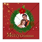 merry christmas, xmas, happy new year  - Acrylic Tangram Jigsaw Puzzle (8  x 8 )