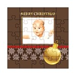 merry christmas, xmas, happy new year  - Acrylic Jigsaw Puzzle (8  x 8 )