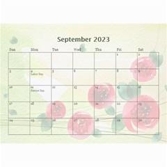 Flower Calendar By Joanne5   Wall Calendar 8 5  X 6    Ld562wclw0ia   Www Artscow Com Sep 2019