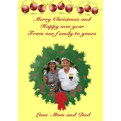 Our Children Christmas Card By Kim Blair   Circle Bottom 3d Greeting Card (7x5)   Vbjniras497d   Www Artscow Com Inside