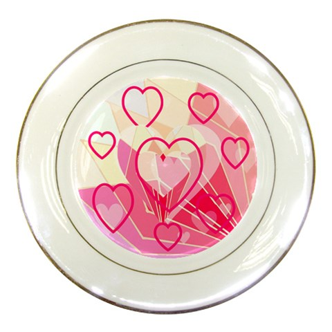 Hearts Plate Pink By Birkie Front