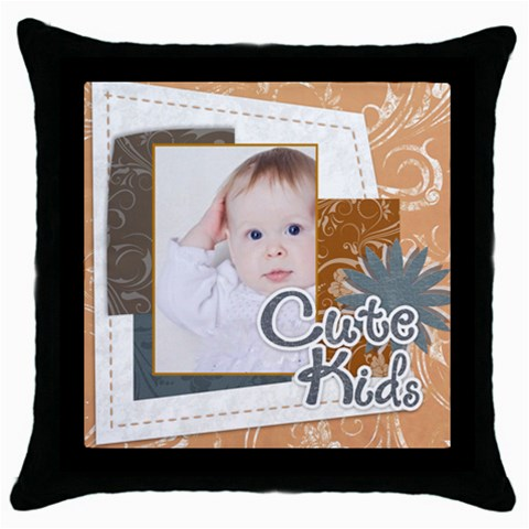 Merry Christmas By Betty   Throw Pillow Case (black)   F3hpxcy15mh8   Www Artscow Com Front
