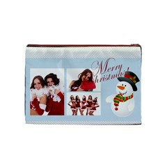 Christmas By Angena Jolin   Cosmetic Bag (medium)   Vwh8j61d2lr8   Www Artscow Com Front