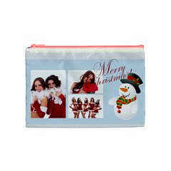 Christmas By Angena Jolin   Cosmetic Bag (medium)   Vwh8j61d2lr8   Www Artscow Com Front