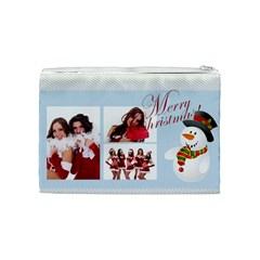 Christmas By Angena Jolin   Cosmetic Bag (medium)   Vwh8j61d2lr8   Www Artscow Com Back