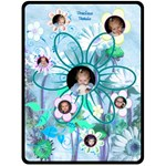 Precious Petals XL Teal Blanket - Fleece Blanket (Extra Large)