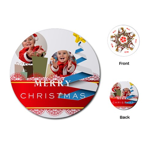 Merry Christmas By Man   Playing Cards (round)   1yn9d6bjwl71   Www Artscow Com Front