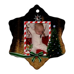 Ho Ho Ho Snowflake Ornament (2 Sided) By Lil    Snowflake Ornament (two Sides)   Lpq1en0slkhj   Www Artscow Com Back