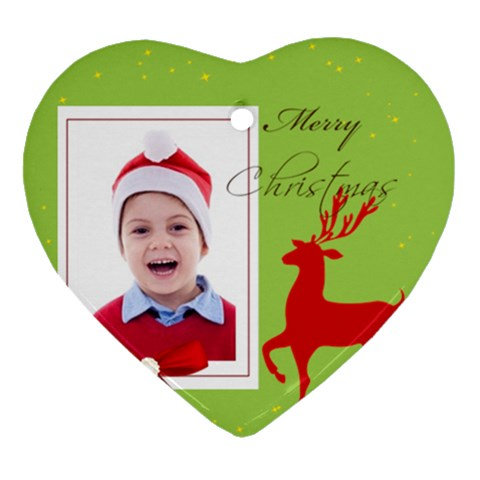 Merry Christmas By Clince   Ornament (heart)   Ai95aenvcizf   Www Artscow Com Front