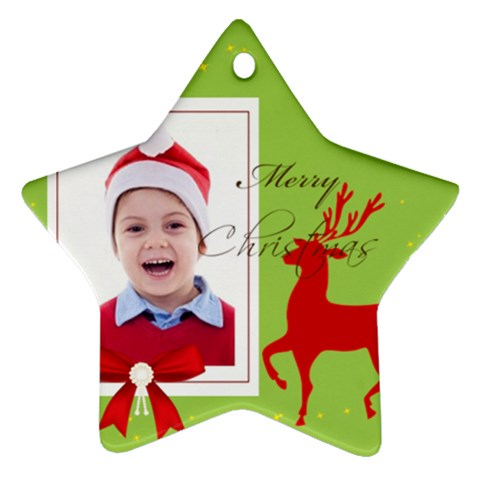 Merry Christmas By Clince   Ornament (star)   C6xeh8o17w4b   Www Artscow Com Front