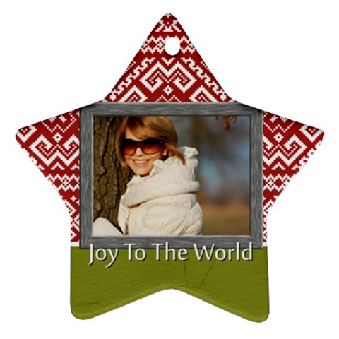 Merry Christmas By Clince   Ornament (star)   F4zmgokp4jd8   Www Artscow Com Front