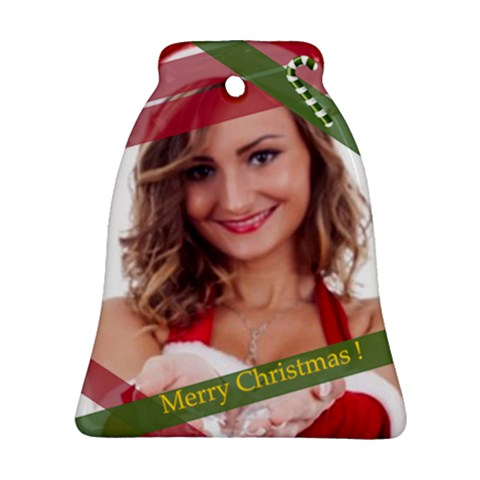Merry Christmas By Clince   Ornament (bell)   Pd8l0wwdtu7l   Www Artscow Com Front