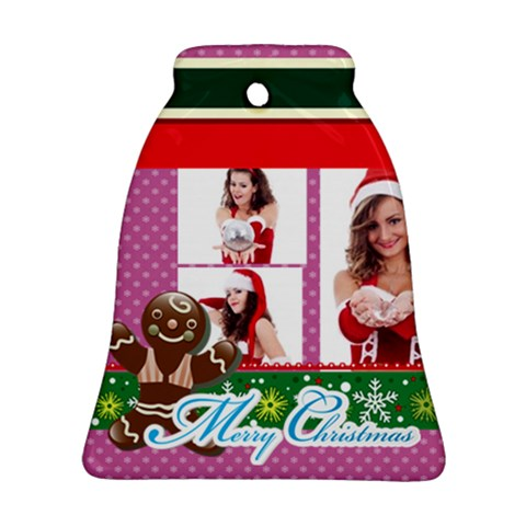 Merry Christmas By Clince   Ornament (bell)   Cwkevqqp2ppz   Www Artscow Com Front