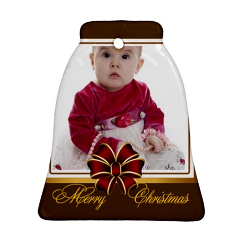 Merry Christmas By Clince   Ornament (bell)   6ahh845r7jlr   Www Artscow Com Front