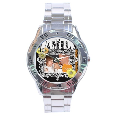 Merry Christmas By Jo Jo   Stainless Steel Analogue Watch   85fm2ttoe2zw   Www Artscow Com Front