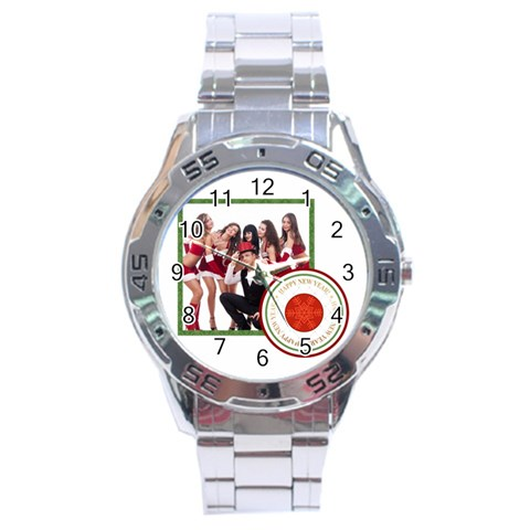 Merry Christmas By Clince   Stainless Steel Analogue Watch   Olbh2mryt345   Www Artscow Com Front