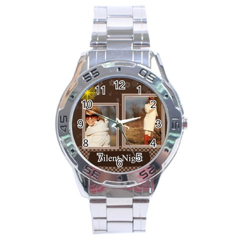 Merry Christmas By Clince   Stainless Steel Analogue Watch   Mxk5zjlpadgl   Www Artscow Com Front