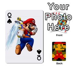 Queen Mario By Cheesedork   Playing Cards 54 Designs   9pedszp4ty4p   Www Artscow Com Front - SpadeQ