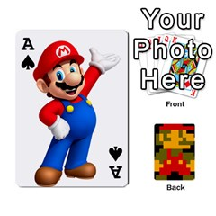 Ace Mario By Cheesedork   Playing Cards 54 Designs   9pedszp4ty4p   Www Artscow Com Front - SpadeA