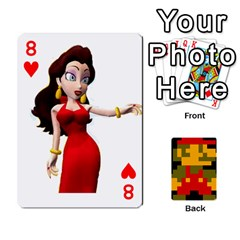 Mario By Cheesedork   Playing Cards 54 Designs   9pedszp4ty4p   Www Artscow Com Front - Heart8