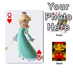 Queen Mario By Cheesedork   Playing Cards 54 Designs   9pedszp4ty4p   Www Artscow Com Front - HeartQ