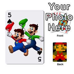 Mario By Cheesedork   Playing Cards 54 Designs   9pedszp4ty4p   Www Artscow Com Front - Spade5