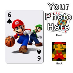 Mario By Cheesedork   Playing Cards 54 Designs   9pedszp4ty4p   Www Artscow Com Front - Spade6