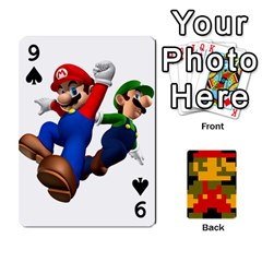 Mario By Cheesedork   Playing Cards 54 Designs   9pedszp4ty4p   Www Artscow Com Front - Spade9