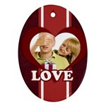 merry christmas, happy new year - Ornament (Oval)