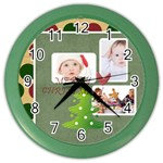merry christmas - Color Wall Clock