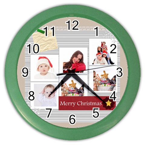 Merry Christmas By Betty   Color Wall Clock   7j0lbxur5eog   Www Artscow Com Front