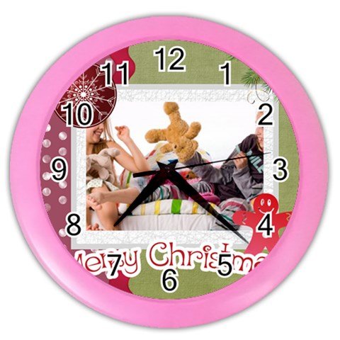 Merry Christmas By Betty   Color Wall Clock   Ao3eyfca63g5   Www Artscow Com Front