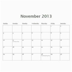 Blanton By Briana   Wall Calendar 11  X 8 5  (12 Months)   Irhq4jb3l3dj   Www Artscow Com Nov 2013