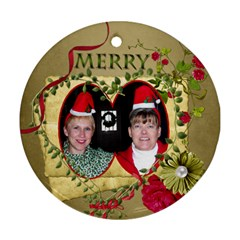 Round 2 Sided Ornament Ferne Kate By Pat Kirby   Round Ornament (two Sides)   F9ap3rc5k2kf   Www Artscow Com Front