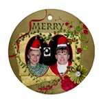 round 2 sided ornament_Ferne.Kate - Round Ornament (Two Sides)